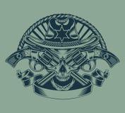 Ilustracja szeryf czaszka Zdjęcia Royalty Free