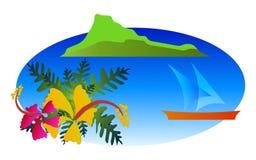 ilustracja tropikalna Zdjęcia Stock