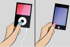 Ilustracja trzyma wizytówkę kobiety ręka Obraz Stock