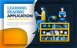 Ilustracja uczenie czytelniczy zastosowanie ucznie czytający nad półka na książki czytać ulepsza ilości uczyć się s i edukację ilustracji