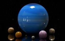 Ilustracja Uranus gwiazda i księżyc Elementy ten ima Obraz Stock