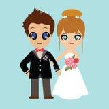 Ilustracja uroczy słodki para ślub Obraz Royalty Free
