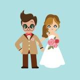Ilustracja uroczy słodki para ślub Obrazy Royalty Free