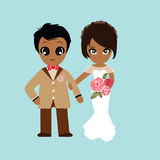 Ilustracja uroczy słodki para ślub Zdjęcie Royalty Free