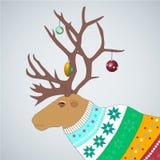Ilustracja Wektorowa Ilustracja caribou w barwionym Obraz Stock