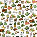 Ilustracja wieloskładnikowe karmowej sieci ikony ilustracyjne Obraz Stock