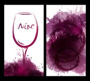 Ilustracja wina szkło z plamami Zdjęcie Stock