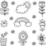 Ilustracja wiosna tematu doodles ilustracji