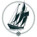Żeglowanie statek ilustracji