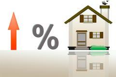 Ilustracja wzrost w cenie pożyczanie dla istnego esta Zdjęcie Royalty Free