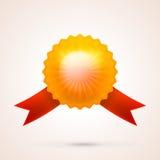 Ilustracja złocisty błyszczący medal Fotografia Stock