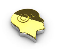 Ilustracja złocisty Copyright symbol na białym tle Fotografia Royalty Free
