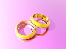 ilustracja złote pierścienie Fotografia Royalty Free