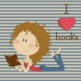 Ilustracja z ładną dziewczyną na retro tle. ilustracja wektor