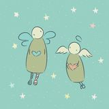 Ilustracja z aniołem Zdjęcia Stock
