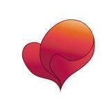 Ilustracja z czerwonym valentine sercem Ilustracji