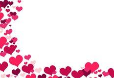 Ilustracja z czerwonymi miłość sercami Zdjęcie Stock