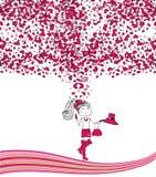Ilustracja z dziewczyną w miłości Obraz Royalty Free