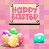 Ilustracja z Easter jajkami Zdjęcia Royalty Free