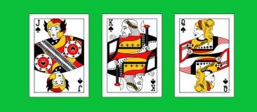 Ilustracja z greckimi karta do gry Obraz Royalty Free