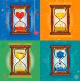Ilustracja z hourglass Obraz Stock