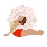 Ilustracja z joga pozą Fotografia Stock