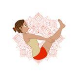 Ilustracja z joga pozą (asana) Fotografia Royalty Free