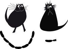 Ilustracja z kotami ilustracja wektor