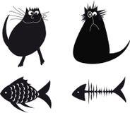 Ilustracja z kotami Zdjęcia Stock