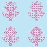 Ilustracja z kwiatami wypełniającymi z sercami i kwiatami Zdjęcia Royalty Free