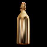 Ilustracja złocista butelka Zdjęcie Royalty Free
