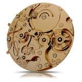 Ilustracja złocistego zegarka mechanizm Obrazy Stock