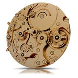 Ilustracja złocistego zegarka mechanizm royalty ilustracja