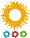Ilustracja z promieniami, promienie, promieniowi - promieniujący wykłada Abstrac ilustracja wektor