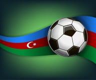 Ilustracja z soccet piłką i flaga Azerbejdżan ilustracja wektor