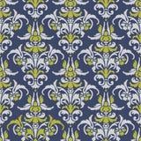 Ilustracja z sztuka kwiatem na błękitnym tle Zdjęcie Royalty Free