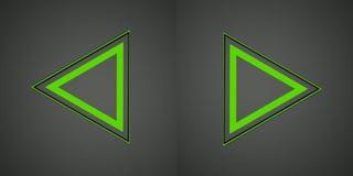 Ilustracja z zielonym strzała znakiem Zdjęcie Royalty Free