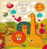 Ilustracja z zwierzętami Obraz Royalty Free