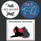 Ilustracja z zwierzę domowe opieki elementami Zdjęcie Stock
