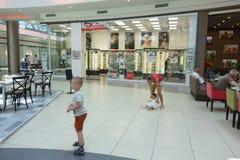 Ilustracja zakupy w centrum handlowym centrum handlowego Galleria Obraz Royalty Free