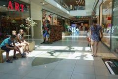Ilustracja zakupy w centrum handlowym centrum handlowego Galleria Zdjęcie Stock