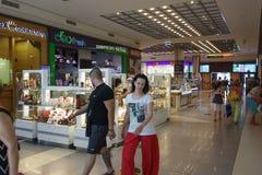 Ilustracja zakupy w centrum handlowym centrum handlowego Galleria Zdjęcia Stock