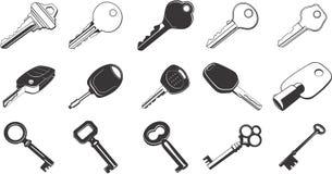 ilustracja zestaw kluczy Obrazy Royalty Free