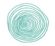 Ilustracja zieleni okregów markiery z liniami royalty ilustracja