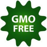 Ilustracja zielona odznaka dla GMO uwalnia jedzenie Zdjęcia Royalty Free
