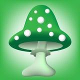 Ilustracja zielony kreskówka muchomor Fotografia Royalty Free