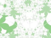ilustracja zielonych kształty Zdjęcia Royalty Free