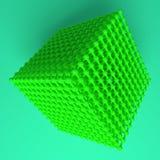 Ilustracje stylowy concepture, blokuj?ca sfera dla graficznego projekta lub tapety wirtualny geometryczny, moleku?a, 3 d czyni? ilustracji