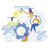 Ilustracji drużyny pracy projekta Nowi przedsiębiorcy budowlani ilustracji