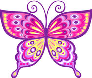 ilustracji motyla różowe wektora Zdjęcie Stock